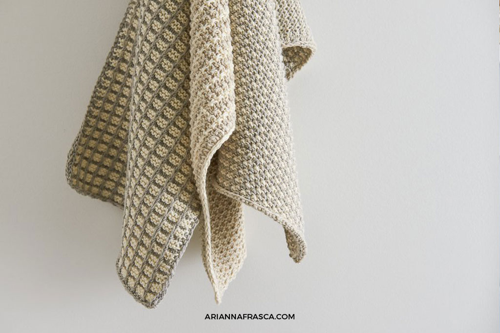 The Best Easy to Knit Dish Towel - Arianna Frasca